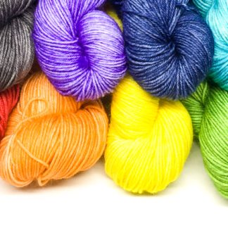 Rainbow mini skeins, hand dyed merino nylon 4 ply, rainbow sock yarn