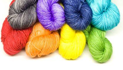 Rainbow mini skeins, hand dyed merino nylon 4 ply, rainbow sock yarn