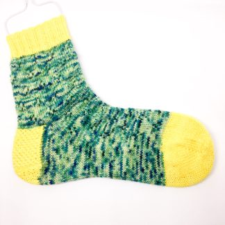 Hand dyed knitted merino socks - Adult size 3 - 5 - eyelet pattern