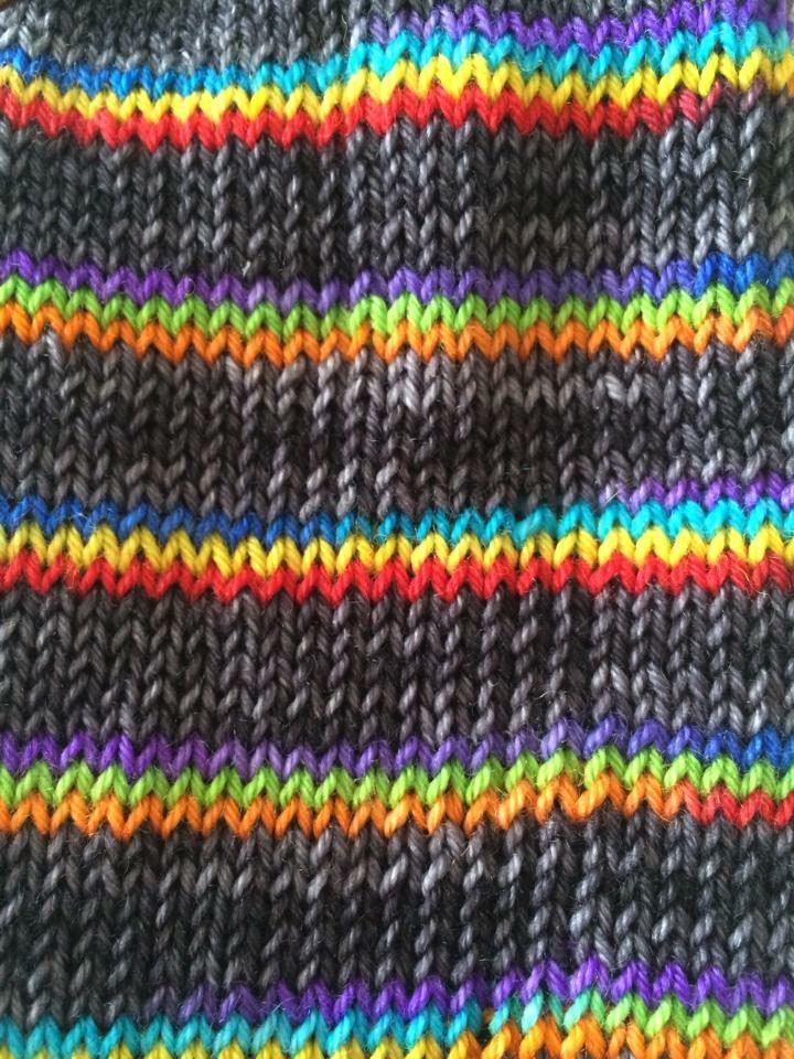 Self striping rainbow yarn Stormy rainbow hand dyed yarn merino nylon sock yarn