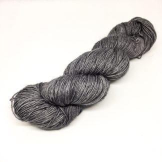Grey merino and nylon sparkly sock yarn, 4 ply semi solid Grey, hand dyed yarn