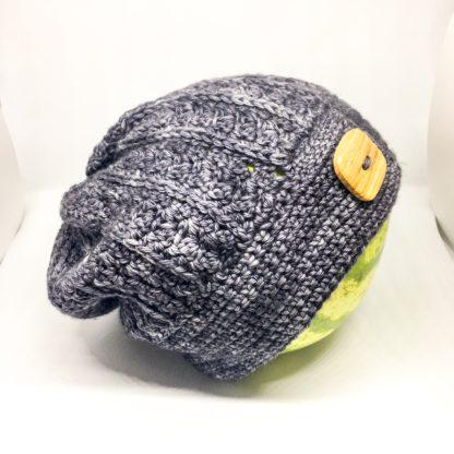 Slouchy merino hat, hand dyed dk, crocheted merino hat, adult winter hat