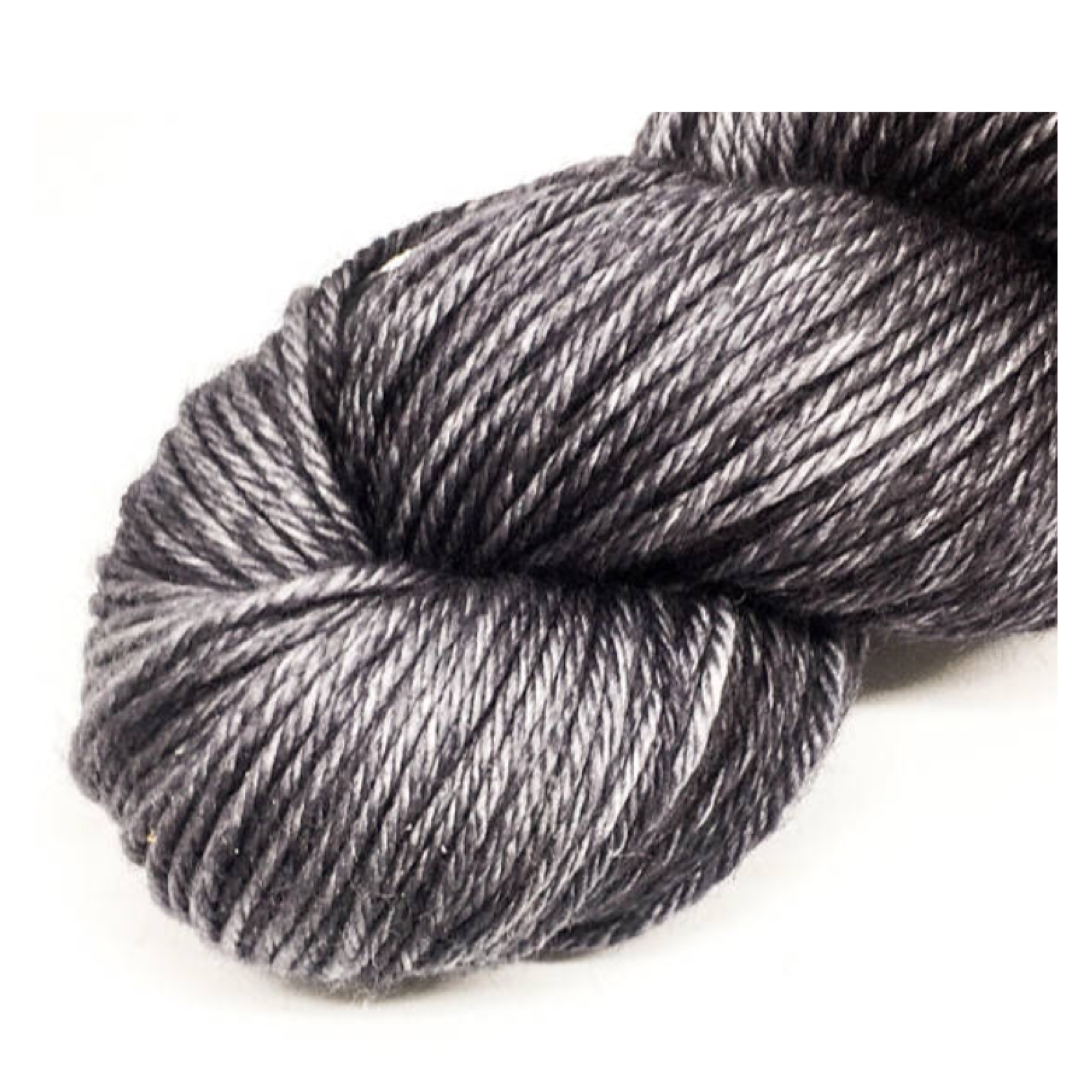 Grey semi solid DK yarn, 100% merino hand dyed yarn