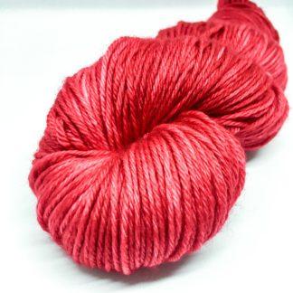 Red merino DK, 100% merino, hand dyed yarn, bright red DK