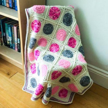 Merino wool baby blanket, hand dyed and crocheted, luxury cot blanket, new baby gift