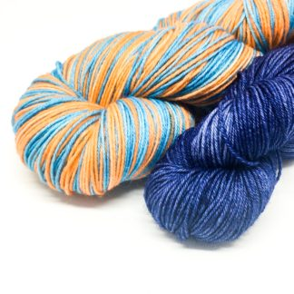 Self striping yarn box, 4 ply self striping mystery box, yarn and treats, stripy skein set, August
