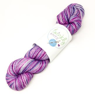 Purple self striping sock yarn, 2 stripe purple merino nylon yarn, hand dyed sock yarn, stripy sock yarn, made to order