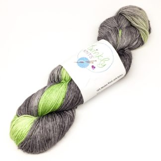 Peridot flash merino and nylon 4 ply sock yarn, 100g hand dyed yarn, sparkly or plain