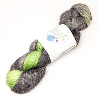 Peridot flash merino and nylon 4 ply sock yarn, 100g hand dyed yarn, sparkly or plain