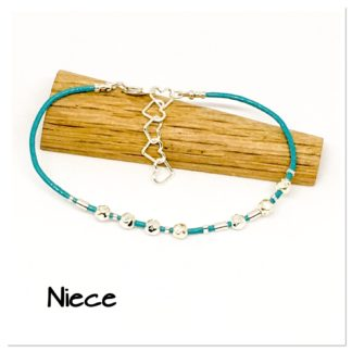 Niece Morse code bracelet, hidden message bracelet, family bracelet, sterling silver