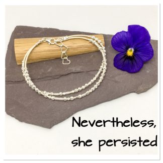 Nevertheless she persisted, Morse code bracelet, motivational bracelet, hidden message bracelet
